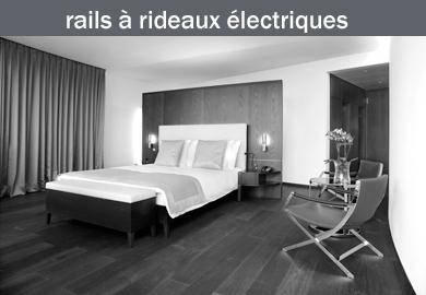 Rails à rideaux à commande électrique